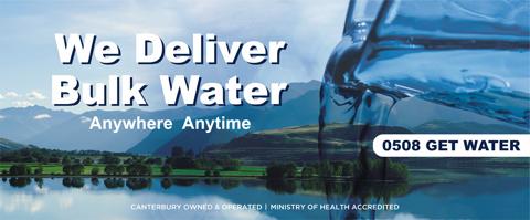 We deliver bulk water